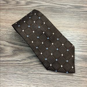 Michael Kors Brown w/ Blue & Tan Check Tie